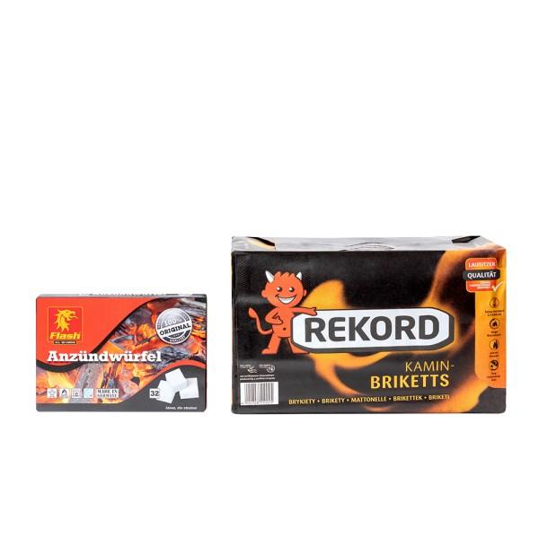 REKORD Braunkohlebriketts im 10 kg Einzelpaket