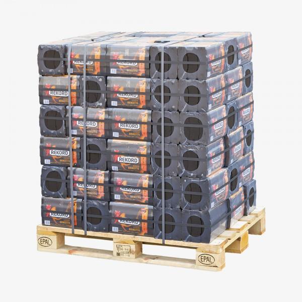 REKORD Braunkohlebriketts als Palette Folie (90 x 10 kg)